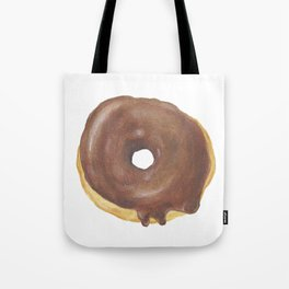 Chocolate Iced Doughnut Tote Bag