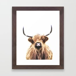 Highland Cow Portrait Framed Art Print