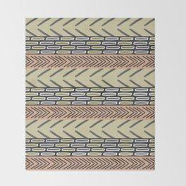 Bricks and sticks Throw Blanket
