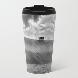 People Walking at Dune Jericoacoara Brazil Travel Mug