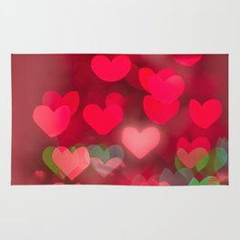 red love background of the hearts on Valentine's day Rug