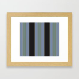 Designer Stripes Carolina Blue Thick Framed Art Print