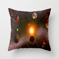 verse Throw Pillows featuring KANDY-VERSE - 106 by Lazy Bones Studios