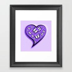 Pretty in purple butterflies in a heart Framed Art Print