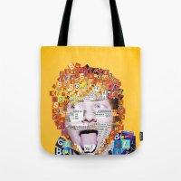 ed sheeran Tote Bags featuring Ed Sheeran by Jack