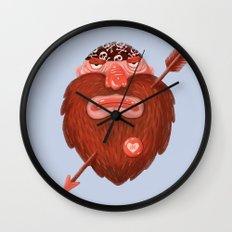 Biker in love Wall Clock
