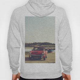 Triumph Spitfire by the sea, with ship, fine art photo, british car, sports car, color, high definit Hoody