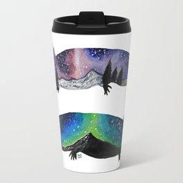 GALAXY STARRY NIGHT AXOLOTL ARTWORK Travel Mug