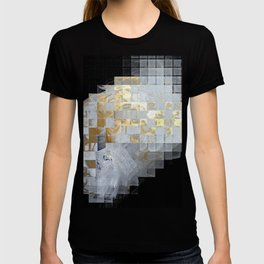 Squares in Gold and Silver T-shirt