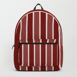Vintage New England Shaker Village Milk Paint Barn Red Large Vertical Bedding Stripe Backpack