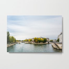 Seine river at Saint Louis island confluence in Paris Metal Print