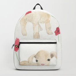 Baby Goats and Red Poppies Backpack