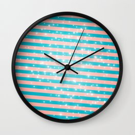 Juicy glitter stripes - Color day 1 Wall Clock