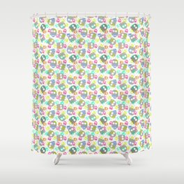 Game pattern Shower Curtain