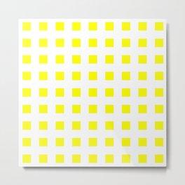 square and tartan 50- yellow Metal Print