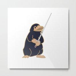 Godric's Sword Niffler Metal Print
