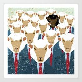 Humanimals: black sheep Art Print