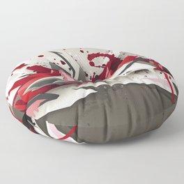 Red Metal Floor Pillow
