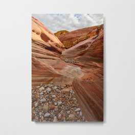 After the Rain - 4, Valley_of_Fire Canyon, Nevada Metal Print