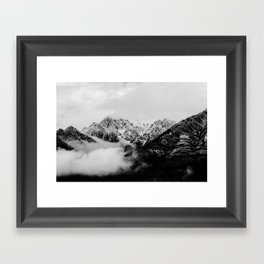 Canadian Rockies - mountain photo, rocky mountains, fine art print, home decor Framed Art Print