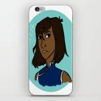 legend of korra iPhone & iPod Skins featuring Korra by simone kett