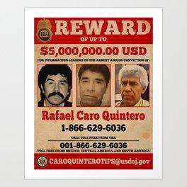 Rafa Quintero wanted poster Art Print