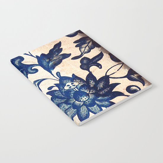 Blue Oriental Vintage Tile 06 Notebook