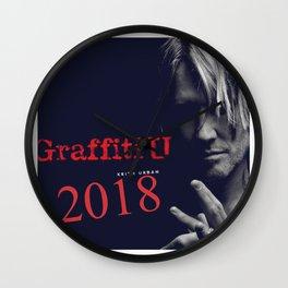 Keith Urban Grafitti U 2018 Wall Clock
