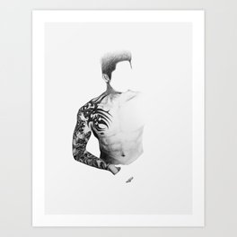 Tattoo Ghost 1.0 Art Print