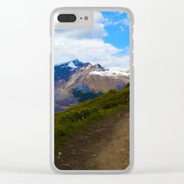 Athabasca & Snowdome Glaciers in Jasper National Park, Canada Clear iPhone Case