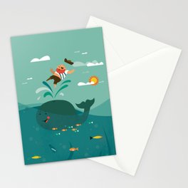 Whales and Pirates Stationery Cards