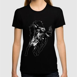 horse splatter watercolor black white T-shirt