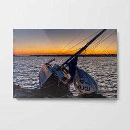 Broken Sailboat Metal Print
