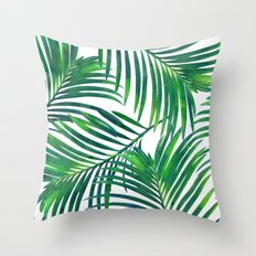 Palm Paradise #society6 #decor #buyart Throw Pillow