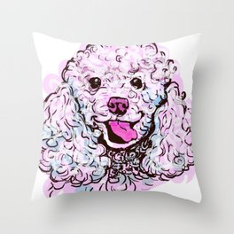 The happy Poodle Love of My Life Throw Pillow