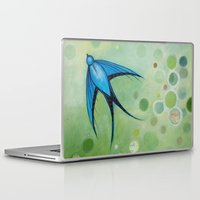 swallow Laptop & iPad Skins featuring swallow by Wee Jock