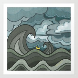 Ducky's Travels: Storm Art Print