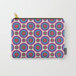 Circle Circle: Small: Fuchsia, Kelly Green, Turquoise + Blue Carry-All Pouch