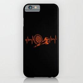 Dart Darts Heartbeat Heartline Dartboard Sports iPhone Case
