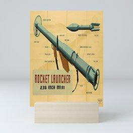 poster rocket launcher. circa 1940s Mini Art Print