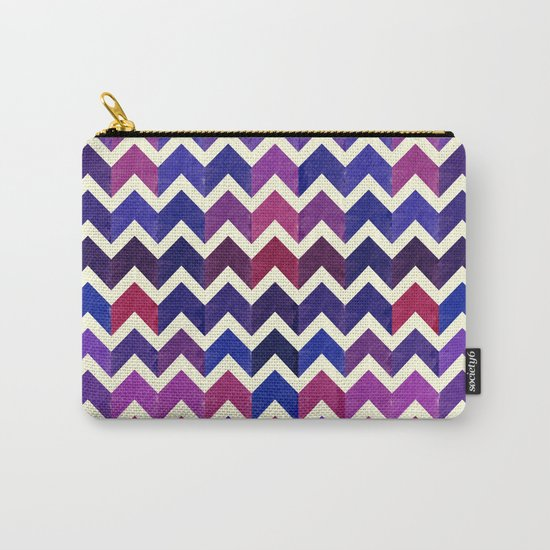 Colorful Chevron Pattern II Carry-All Pouch