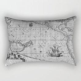 Old World Map print from 1589 Rectangular Pillow