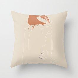 Nude-Orange Throw Pillow