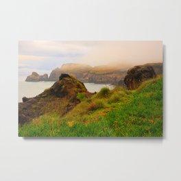 Coastal landscape in Azores Metal Print