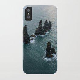 Sea stacks on the Icelandic Coast near Vik - Landscape Photography iPhone Case