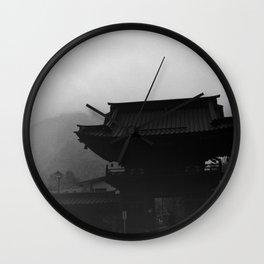 Nikko temple 001 Wall Clock