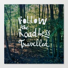 Follow The Road Less Travelled Canvas Print