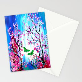 Butterflies and Cherry Blossom Stationery Cards