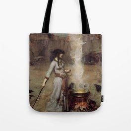 The Magic Circle, John William Waterhouse. Tote Bag