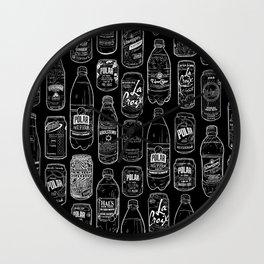 Seltzer Crazy Black Wall Clock
